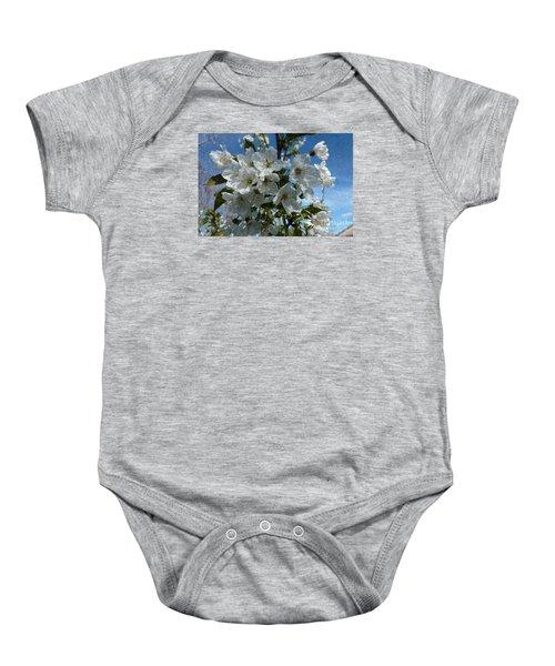 White Flowers - Variation 2 Baby Onesie