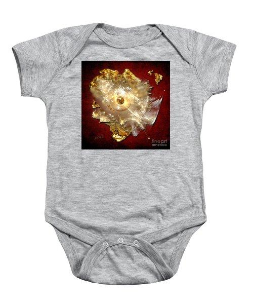 White Gold Baby Onesie
