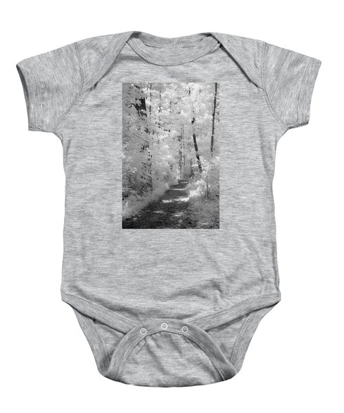 White Path Baby Onesie