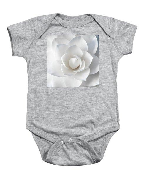 White Petals Baby Onesie
