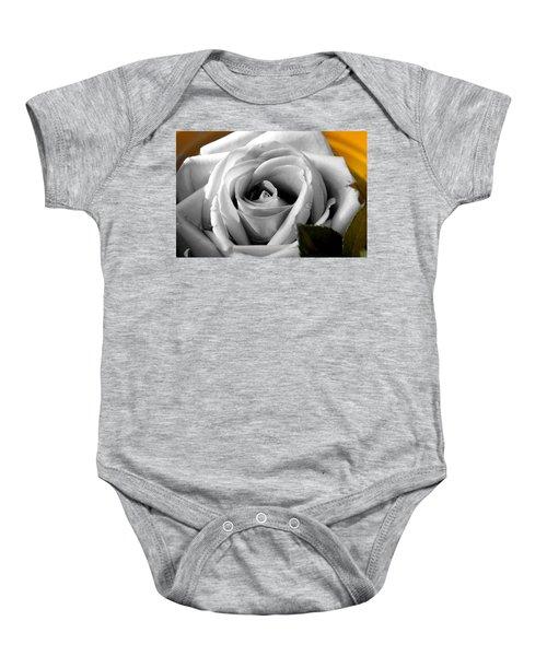 White Rose 2 Baby Onesie