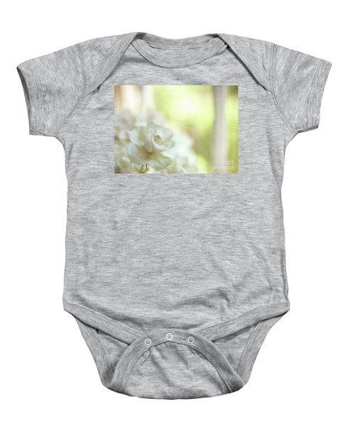 White Rose Baby Onesie