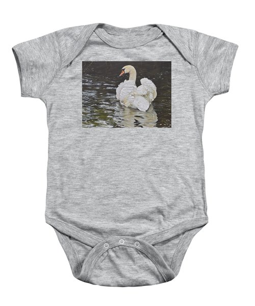 White Swan Baby Onesie