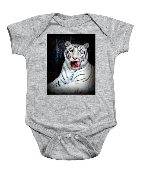 White Tiger Baby Onesie