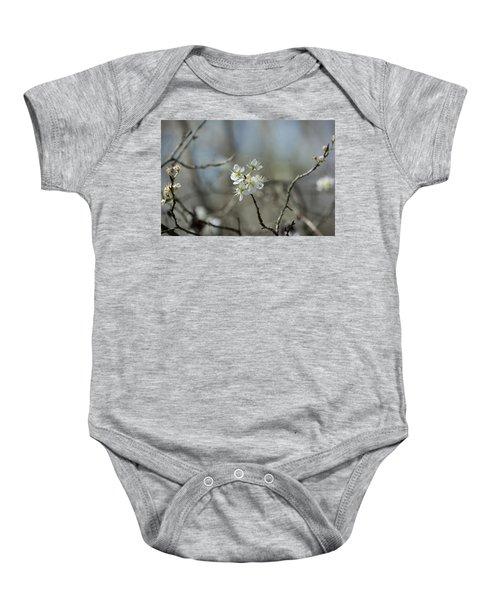 White Tree Bud Baby Onesie