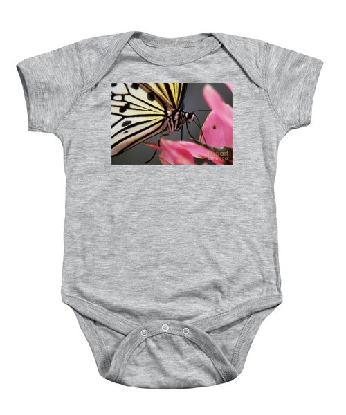 White Tree Nymph Butterfly Baby Onesie