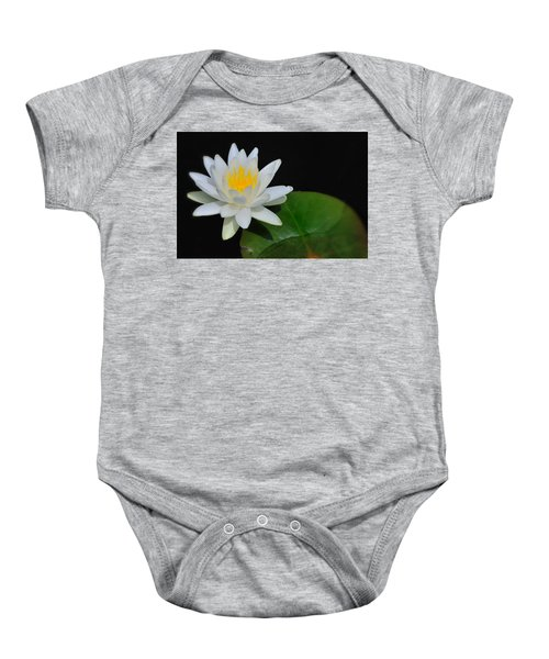 White Water Lily Baby Onesie