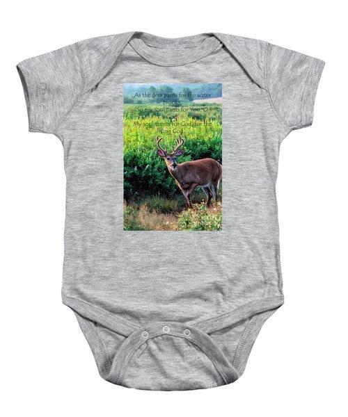 Whitetail Deer Panting Baby Onesie