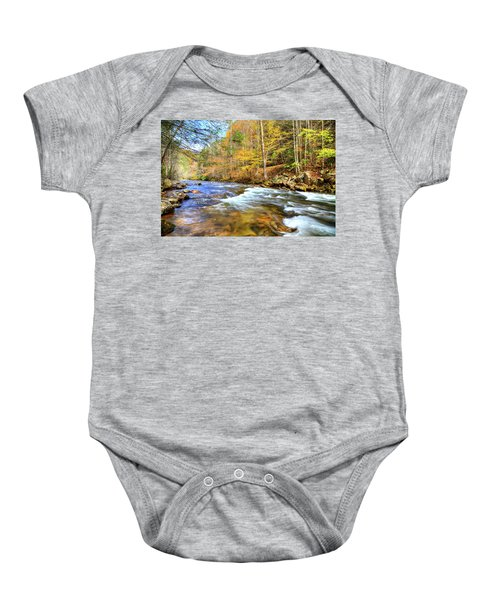 Whitetop River Fall Baby Onesie