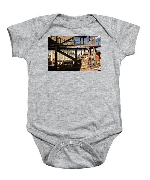 Whitney Terrace Grid Baby Onesie