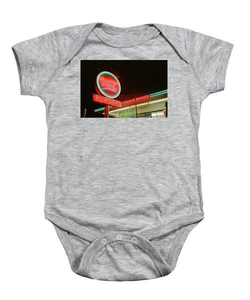 Whiz Burgers Neon, San Francisco Baby Onesie
