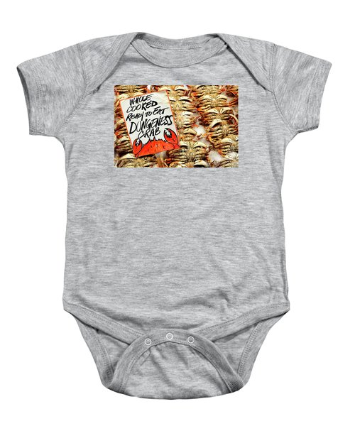 Whole Cooked Crabs Baby Onesie