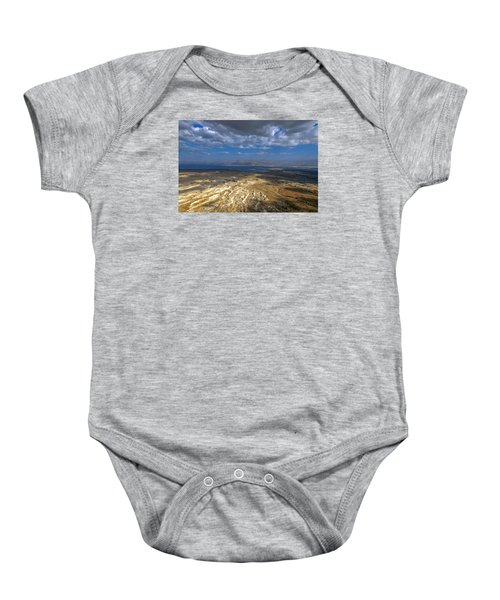 Wide View From Masada Baby Onesie by Dubi Roman