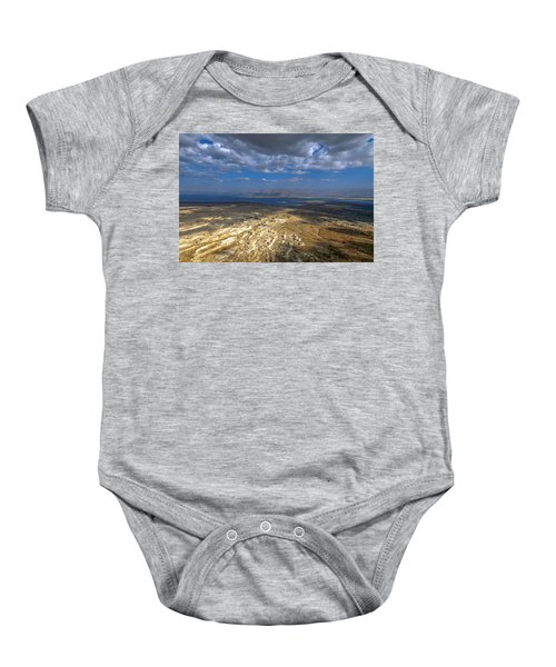 Wide View From Masada Baby Onesie