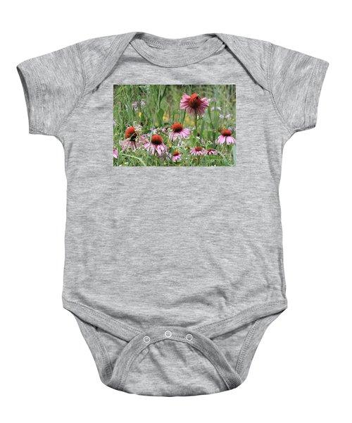 Wild Coneflowers Baby Onesie