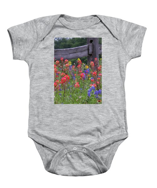 Wild Flowers Baby Onesie