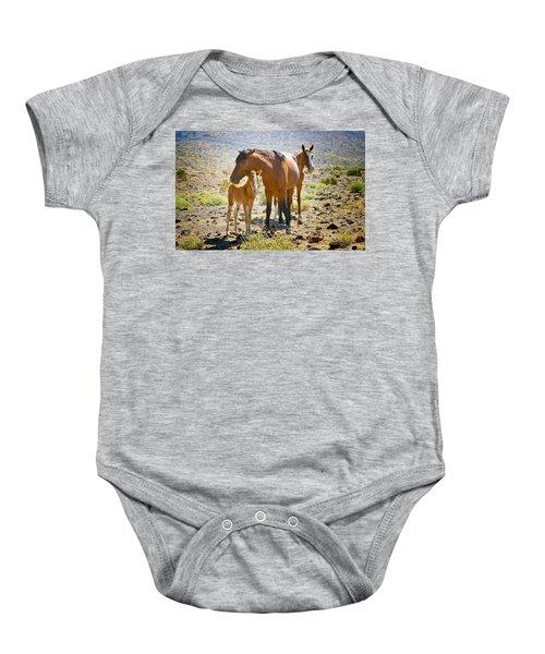 Wild Horse Family Baby Onesie