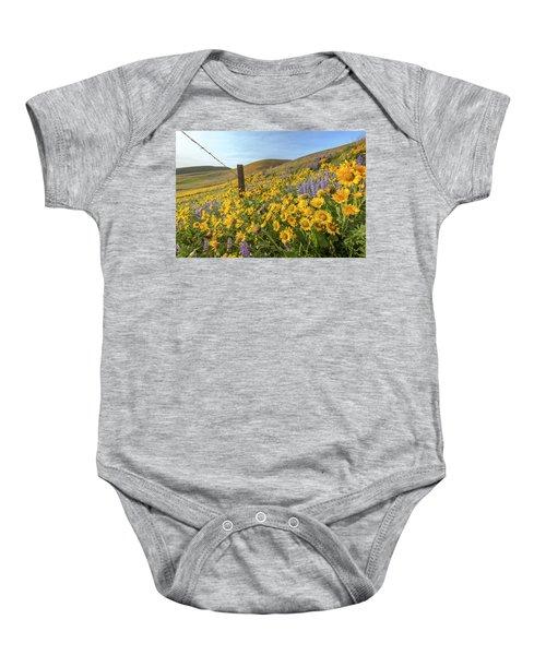 Wildflower Bonanza Baby Onesie