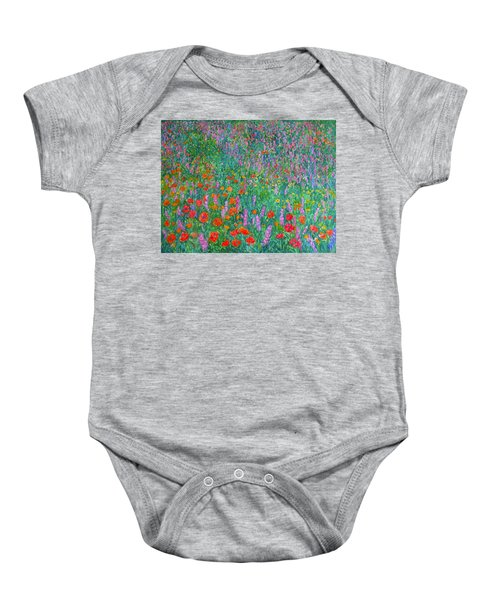 Baby Onesie featuring the painting Wildflower Current by Kendall Kessler