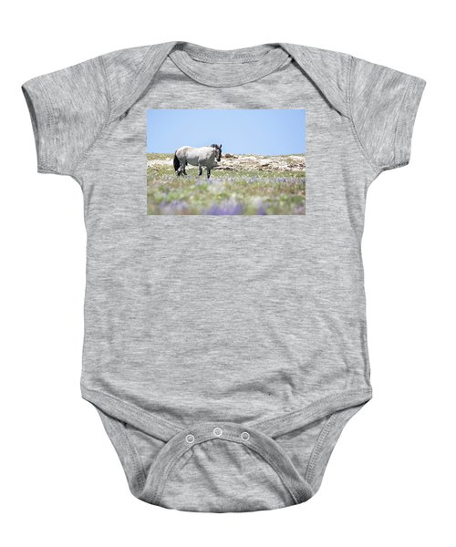 Wildflowers And Mustang Baby Onesie