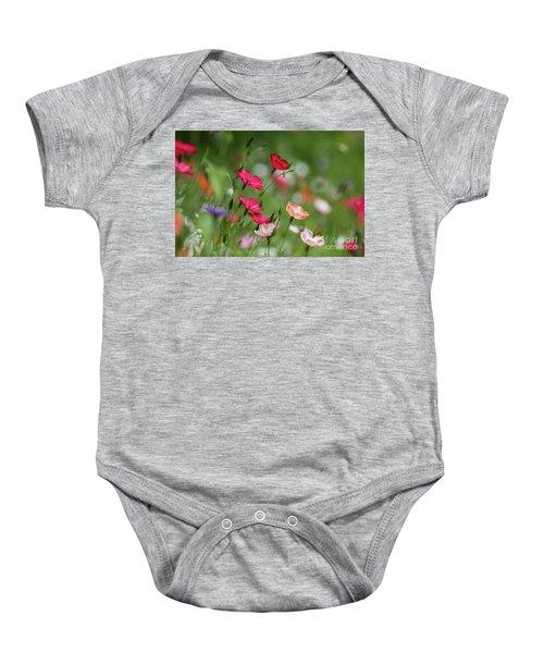 Wildflowers Meadow Baby Onesie