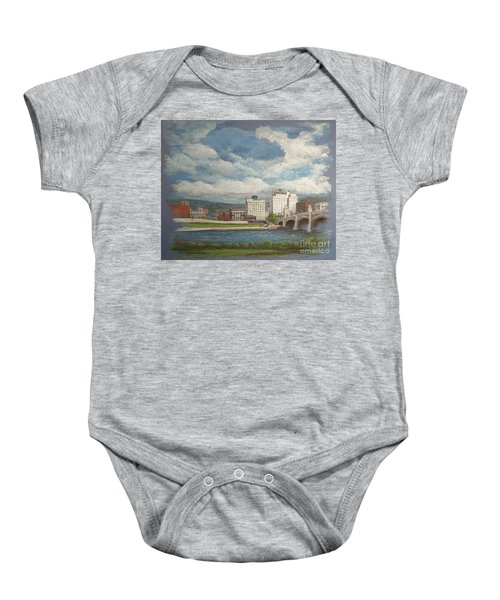 Wilkes-barre And River Baby Onesie