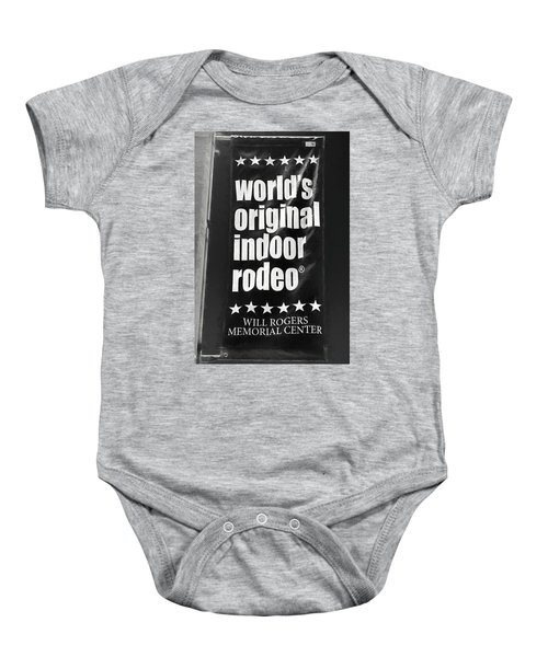 Will Rogers Rodeo Bw Baby Onesie