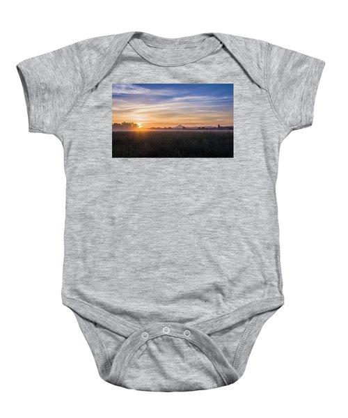 Willamette Valley Sunrise Baby Onesie