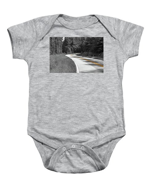 Winding Country Road In Selective Color Baby Onesie