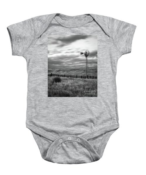 Baby Onesie featuring the photograph Windmill by Vincent Bonafede