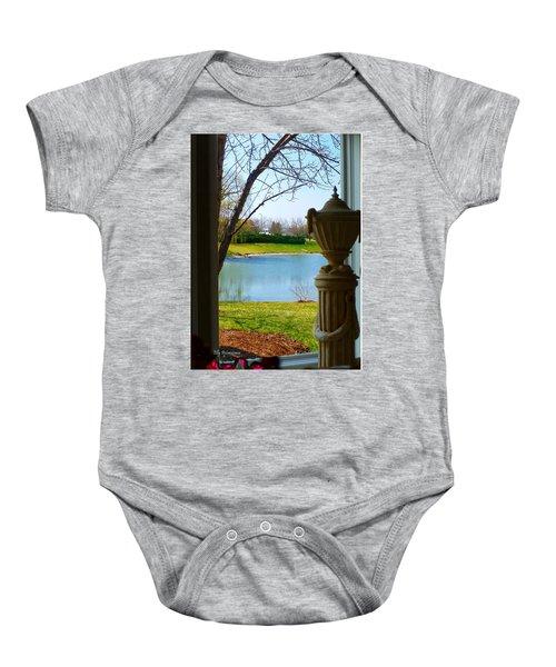 Window View Pond Baby Onesie