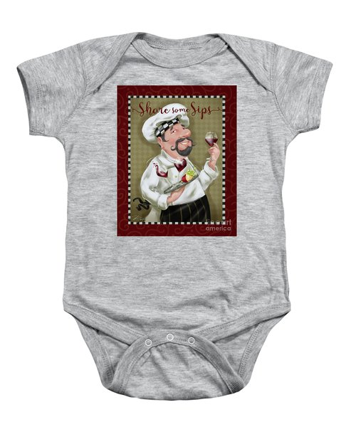 Wine Chef-share Some Sips Baby Onesie