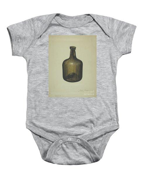 Wine Or Spirits Bottle Baby Onesie