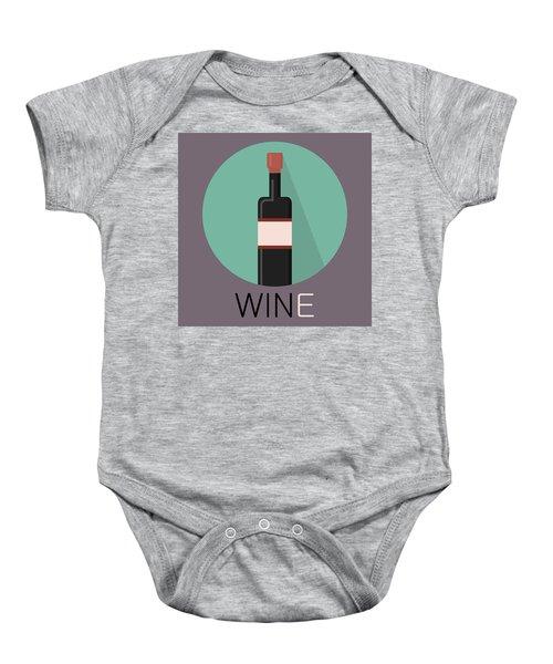 Wine Poster Print - Win And Wine Baby Onesie