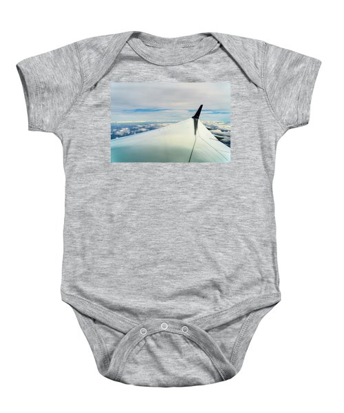 Wing And Clouds Baby Onesie
