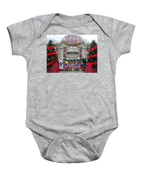 Winter Amusement Park Baby Onesie