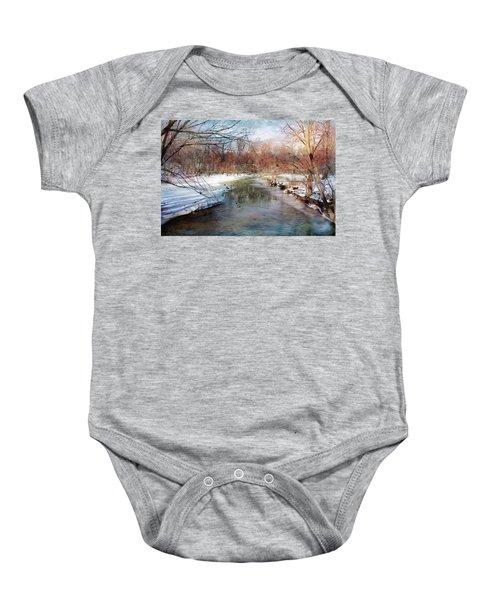 Winter At Cooper River Baby Onesie