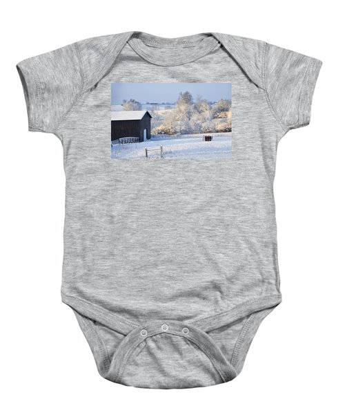 Winter Barn 1 Baby Onesie