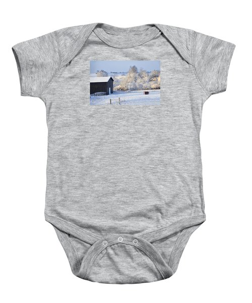 Winter Barn 1 Baby Onesie
