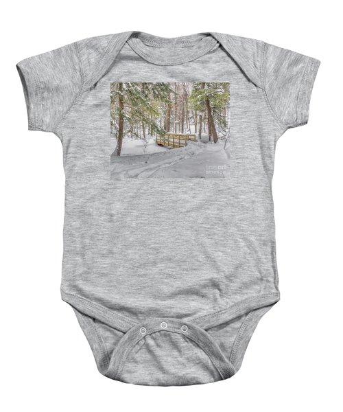 Winter Bridge Baby Onesie