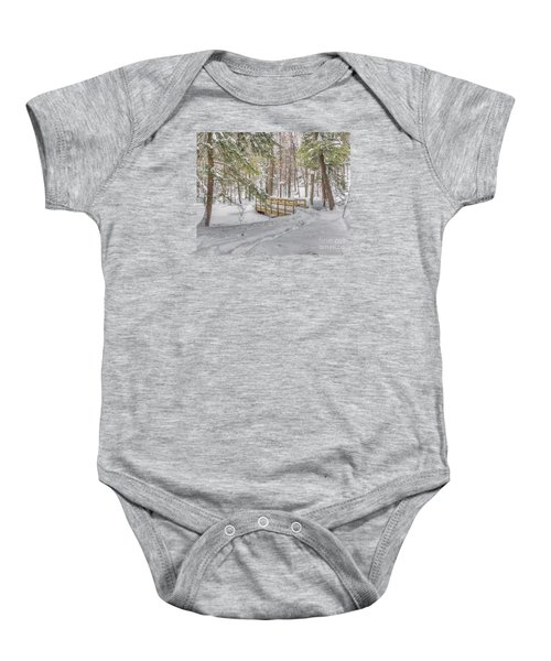 Winter Bridge Baby Onesie
