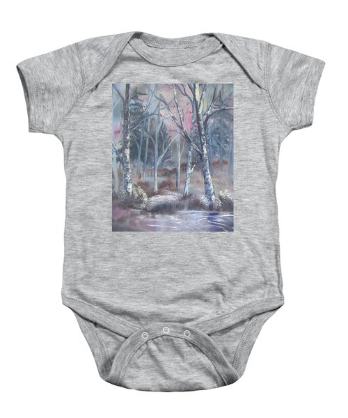 Winter Cardinals Baby Onesie