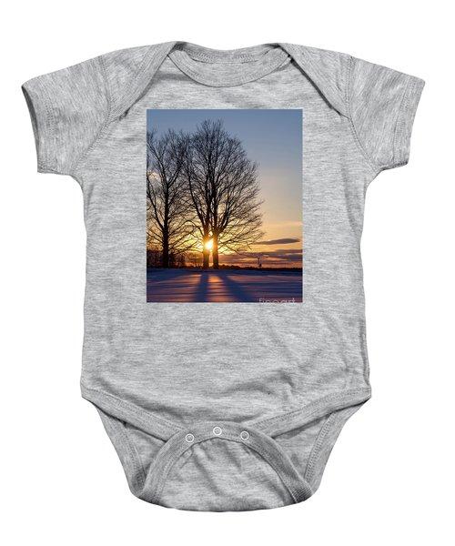 Winter, Crystal Spring Farm, Brunswick, Maine -78592 Baby Onesie