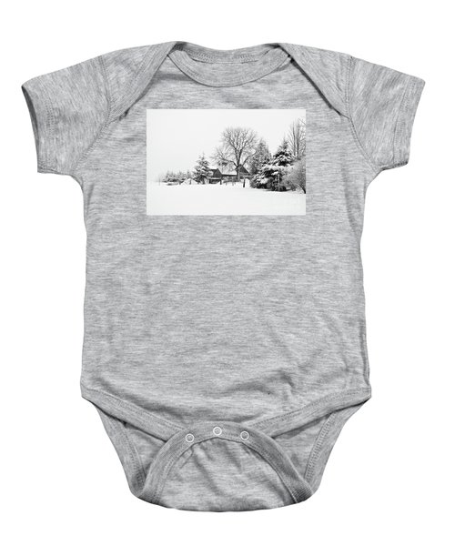 Winter In Black And White Fleckl, Germany 2 Baby Onesie
