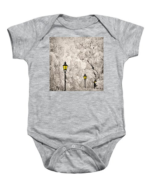 Winter Lanterns Baby Onesie