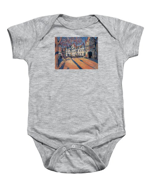 Winter Light At The Our Lady Square In Maastricht Baby Onesie by Nop Briex