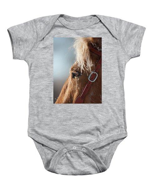 Winter Mustang Eye Baby Onesie