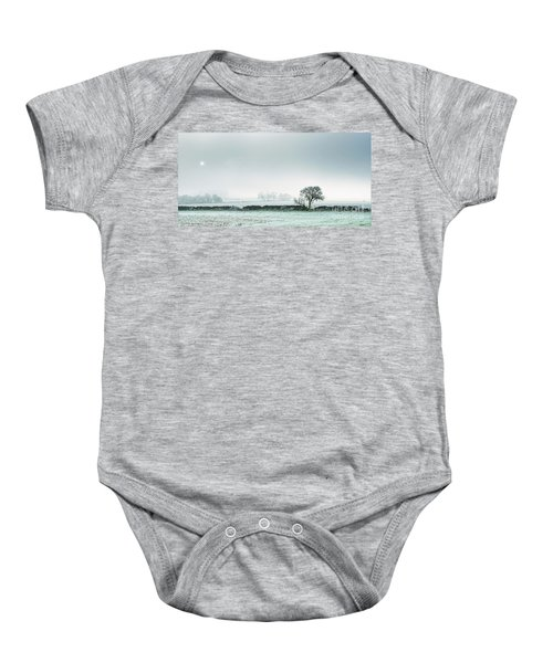 Winter On The Mendips Baby Onesie