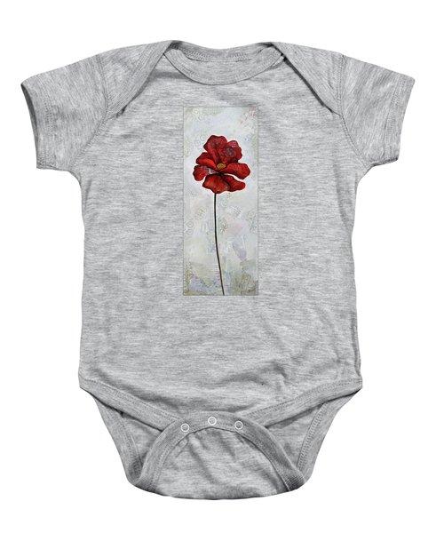 Winter Poppy I Baby Onesie