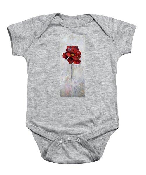 Winter Poppy II Baby Onesie